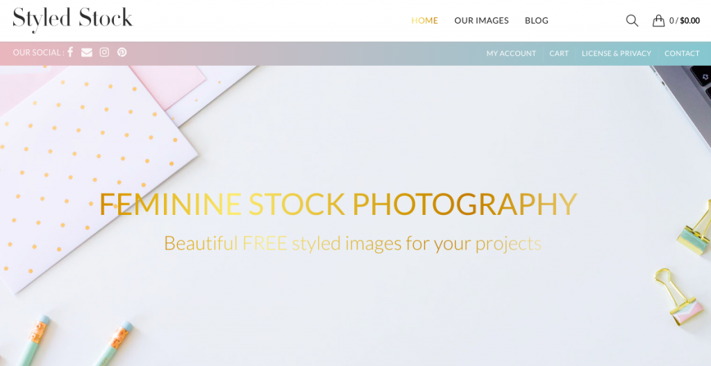 Feminine stock photography