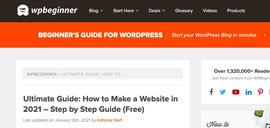 WP Beginner guide