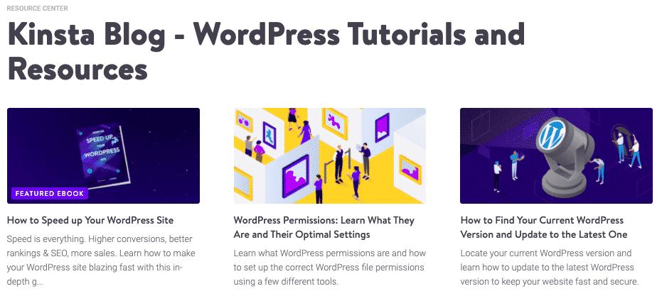 Kinsta - WordPress Tutorials and Resources