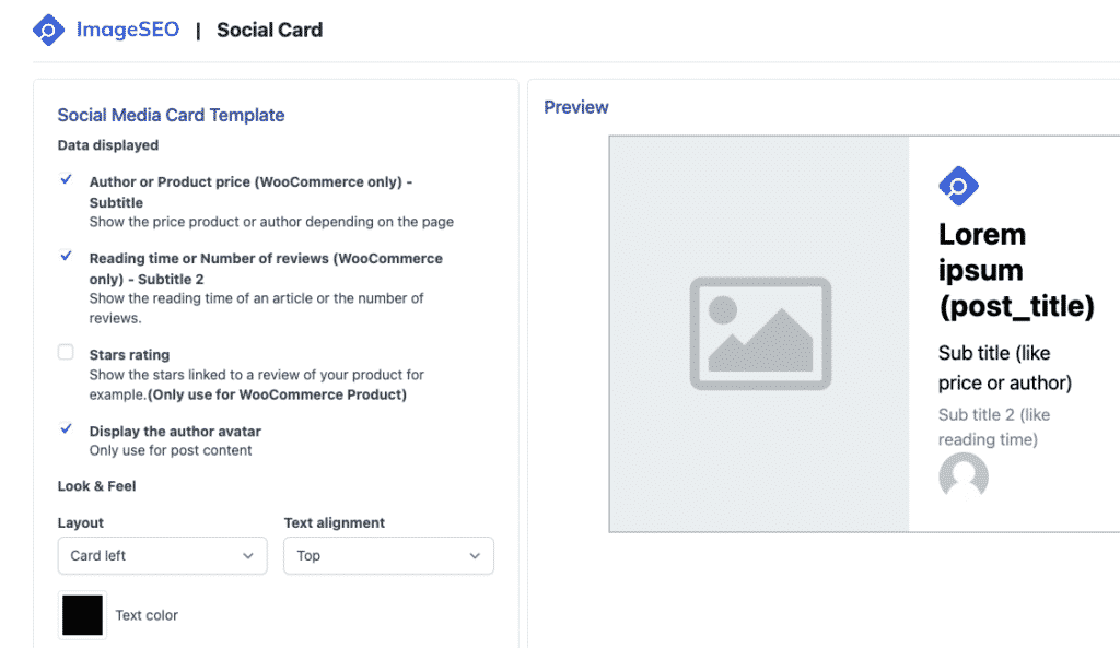 Social card optimizer