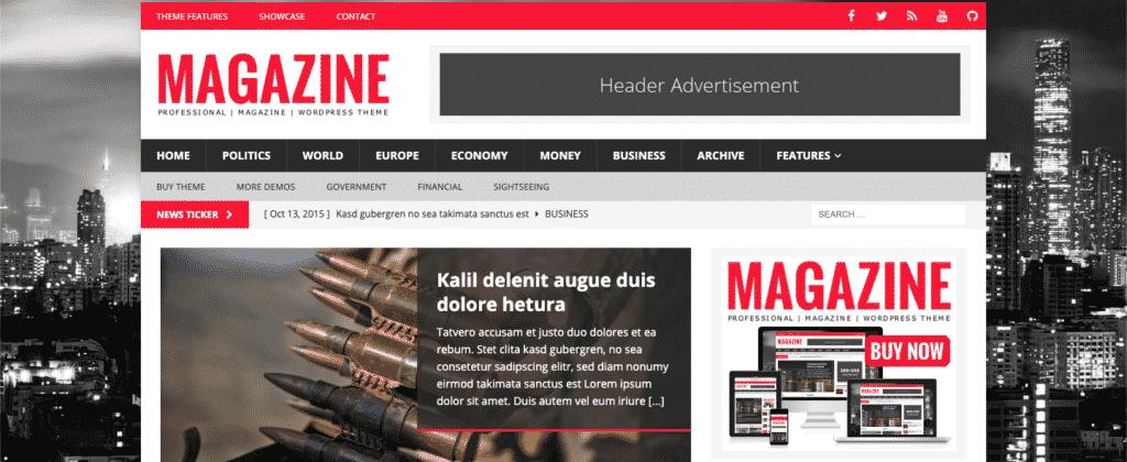 MH Magazine theme for WordPress